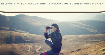 Helpful Tips for Recognizing  a Meaningful Business Opportunity